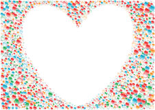 White_heart_background Fotografie Stock