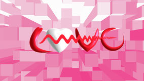 White heart on background. For valentine day Stock Photography