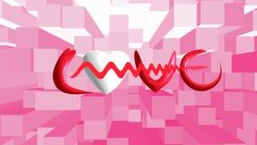 White heart on background. For valentine day Vector Illustration