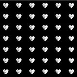 White Heart Black Background set great for any use. Vector EPS10. Stock Image