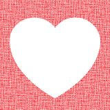 White Heart on canvas texture. Vector illustration Royalty Free Stock Images