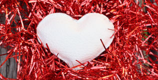 White heart Royalty Free Stock Images