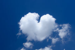 White heart cloud Stock Photos