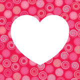White Heart and Colorful Swirls Background Illustration Royalty Free Stock Photo