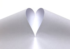 White heart created from paper Royalty Free Stock Photo