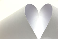 White heart created from paper Royalty Free Stock Photos