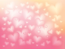 White heart on gradient pink and yellow blur background Stock Photography