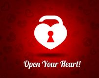 White heart with a keyhole Royalty Free Stock Photography