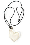 White heart pendant necklace Royalty Free Stock Photos