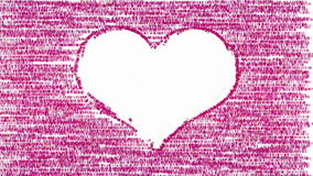 White heart on pink animated artistic background stock video
