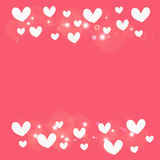 White heart on pink  background Royalty Free Stock Photos