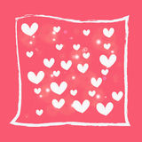 White heart on pink background Stock Photography