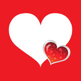 White Heart. Red Heart icon for various designs Royalty Free Stock Image