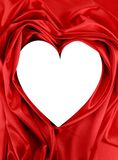 White heart of red silk Royalty Free Stock Photography