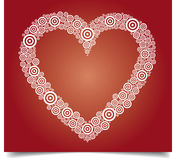 White Heart on red. Vector heart illustration on red gradient background Stock Photography