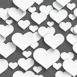 White heart seamless Royalty Free Stock Photo