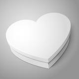 White heart shape box isolated on gray background Royalty Free Stock Photos