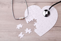 White heart shape puzzle Royalty Free Stock Images