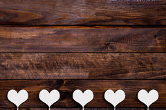 White heart on a stick Royalty Free Stock Image