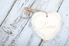 White heart with text Love Royalty Free Stock Photos