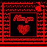 White heart trendy illustration. Flat design Royalty Free Stock Photography