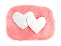 White heart. Valentine. White heart on a pink background Royalty Free Stock Images