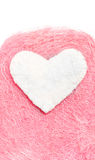 White heart. Valentine. White heart on a pink background Stock Photo