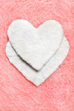 White heart. Valentine. White heart on a pink background Royalty Free Stock Photo