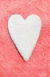 White heart. Valentine. White heart on a pink background Stock Image