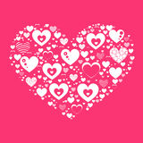 White heart Valentine s Day stock illustration