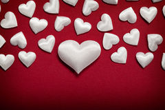 White hearts Royalty Free Stock Images