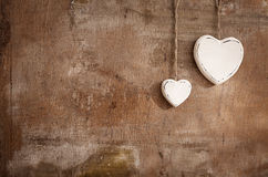White hearts Stock Photo