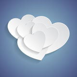 White hearts Stock Photography