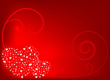 White hearts background. This is image of white hearts background illustration Royalty Free Stock Photo