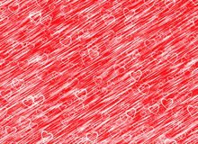 White hearts background on red wind backgrounds. Love texture Stock Photo