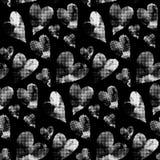 White hearts made from many round dots. Stock Photos
