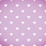 White hearts patter over a pink background Stock Photo