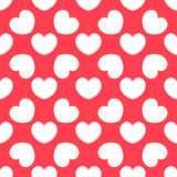 White hearts pattern Royalty Free Stock Images
