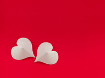 White hearts Stock Photos