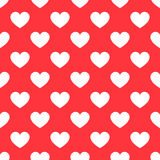 White hearts seamless red pattern Royalty Free Stock Photo