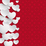 White Hearts Side Ornaments Royalty Free Stock Image
