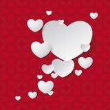 White Hearts Speech Bubble Ornaments Stock Photos