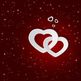 White hearts on star background Royalty Free Stock Photo