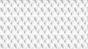 White hearts. White heart pattern on white background Royalty Free Stock Photos