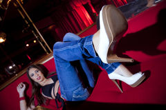 White heels Royalty Free Stock Image