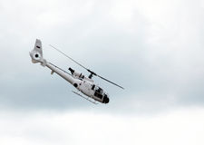 White helicopter Stock Images