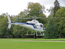 White Helicopter Royalty Free Stock Photo