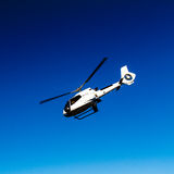 White Helicopter in Blue Sky Stock Photos