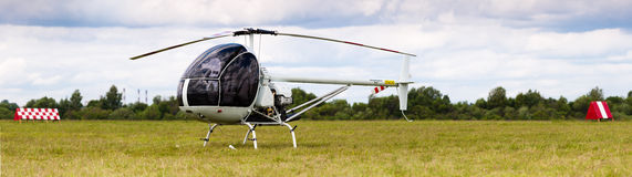 White helicopter Stock Image