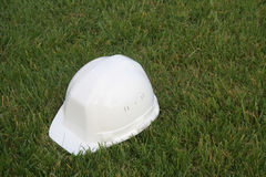 White Helmet. White safety hat stock images